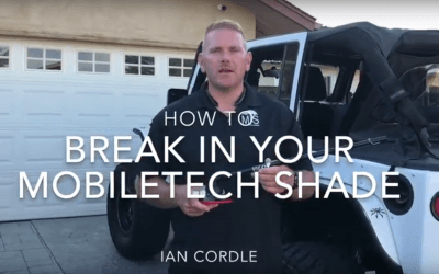 How To Break In Your Mobiletech Shade (Video)